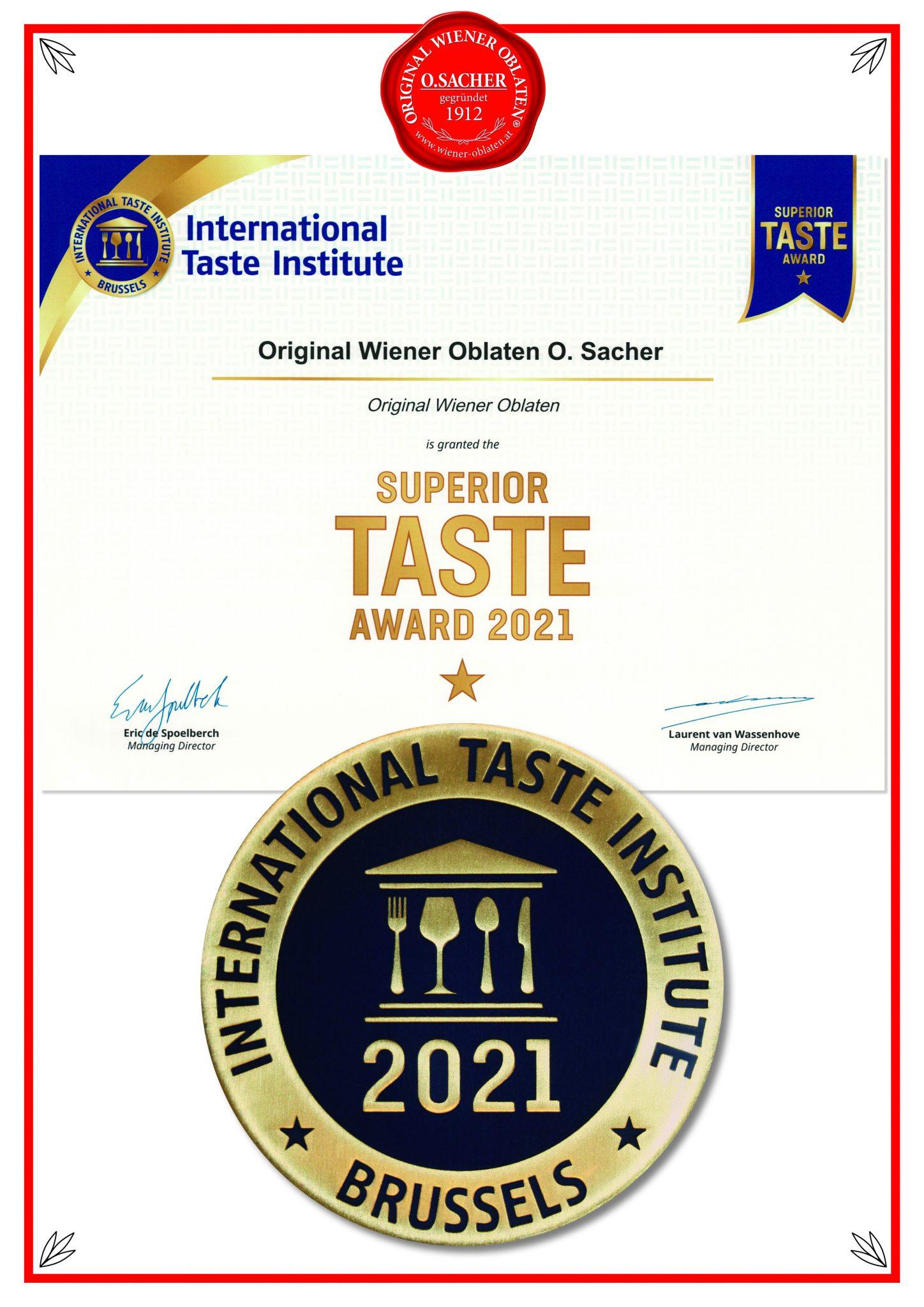 Super TASTE Award 2021 Original Wiener Oblaten